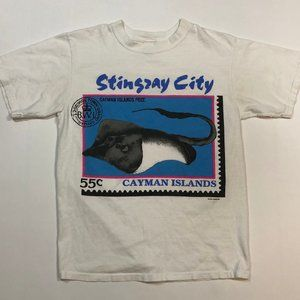 Vintage Stingray Post Card Stamp T-Shirt